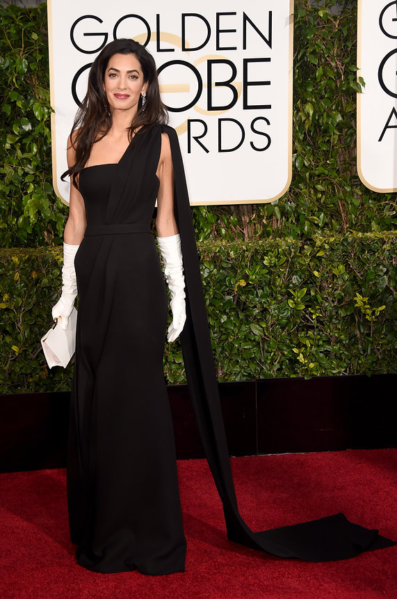 Amal Clooney in Dior Haute Couture Gown and Harry Winston Jewellry