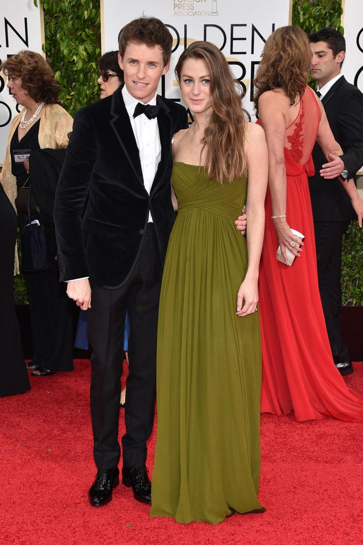 Eddie Redmayne in Gucci and watch by Chopard, with wife Hannah Bagshawe