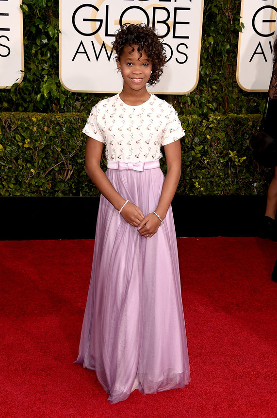 Quevenzhane Wallis in a custom Armani gown