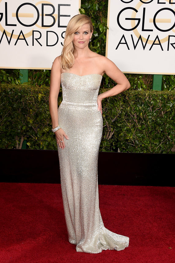 Reese Witherspoon in a Calvin Klein Collection gown and Tiffany & Co. Jewellry