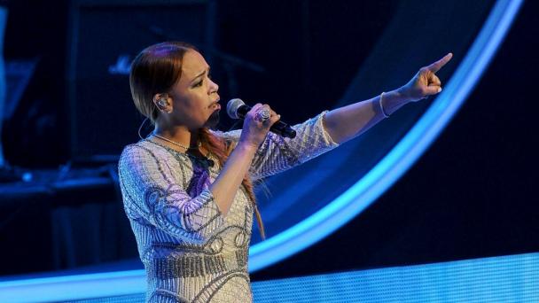 Faith Evans at the 2015 Black Girls Rock awards