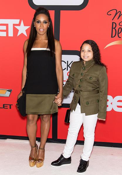 Celebrity stylist June Ambrose in attendance with her daughter