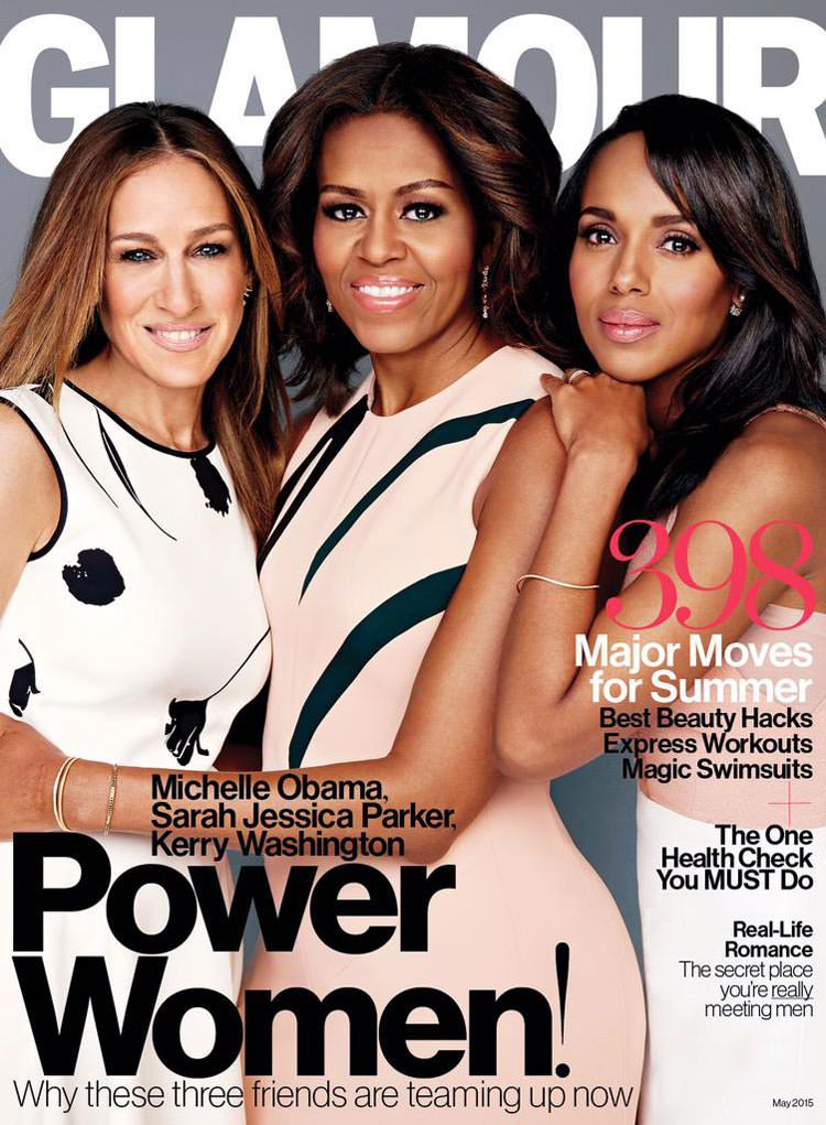 Sarah Jessica Parker, First Lady Michelle Obama and Kerry Washington on Glamour May 2015 Cover
