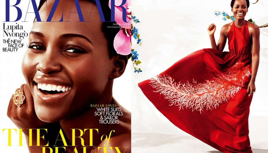 Lupita N'yongo on the cover of Harper's Bazaar U.K.