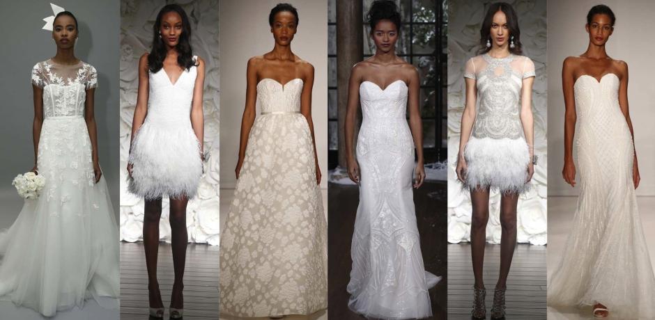 runway looks from Bridal Fashion week 2015