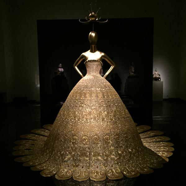 "Gown on Exhibit at the Metropoliatn Museum of Art Costume Institute's ""China: Through the Looking Glass"" 2015 exhibit"