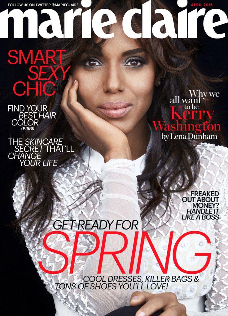 Kerry Washington's April 2015 Marie Claire cover