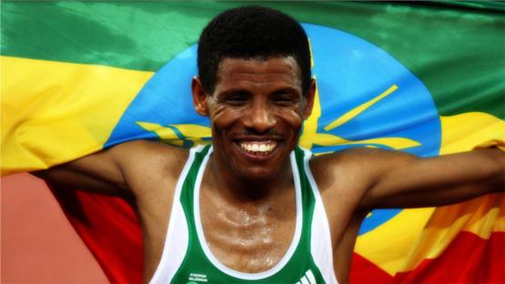 45-year old Ethiopian Olympic runner Haile Gebrselassi
