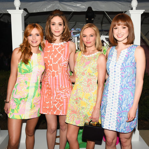 Actresses Kate Bosworth, Bella Thorne, Emy Rosum and at a Lily Pulitzer for Target launch party