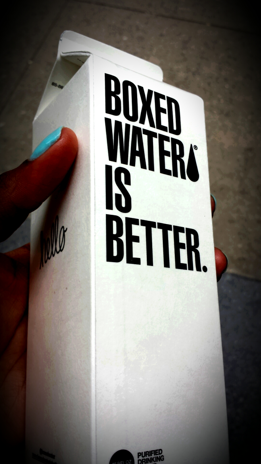 Boxed Water?