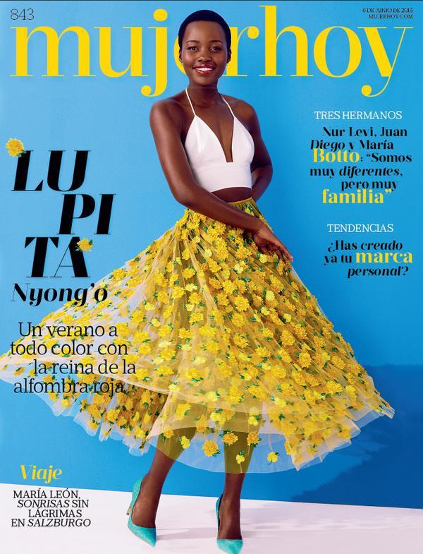 Lupita Nyongo on the cover of Mujer Hoy