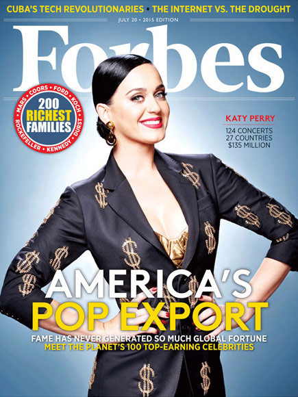Katy Perry on the cover of Forbes Magazine