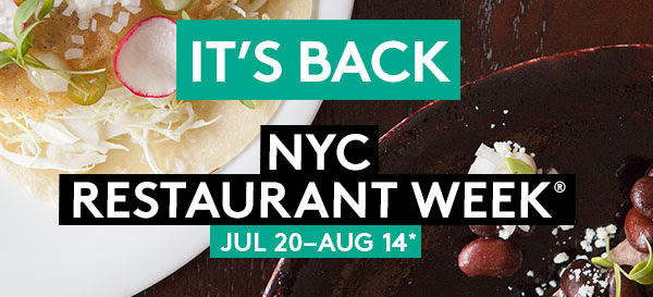 NYC Summer Restaurant Week 2015