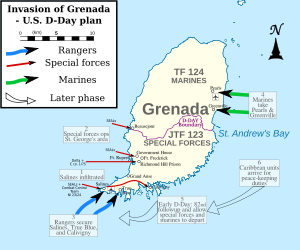 Plan of action for Operation Urgent Fury