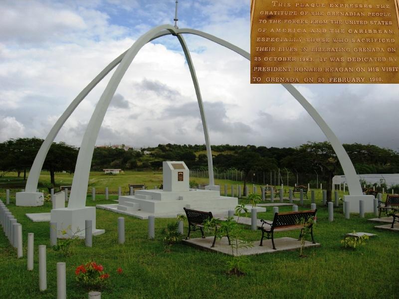 Memorial at the Maurice Bishop International Airport, Point Salines, St. George, Grenada