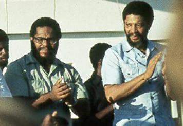 Prime Minister Maurice Bishop and Deputy Prime Minister Bernard Coard