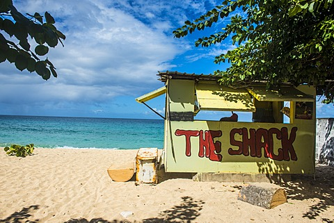 Little beach bar on Magazine beach, Grenada, Windward Islands, West Indies, Caribbean, Central America